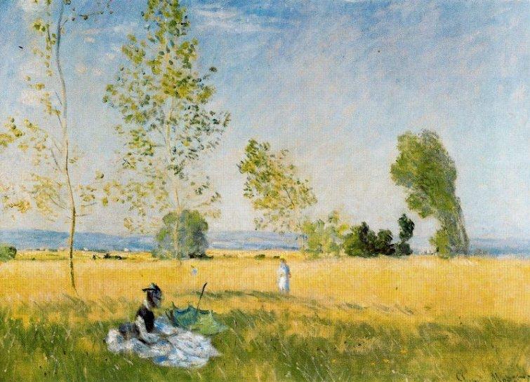 Campos de Bezons por Claude Monet